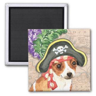 Chihuahua-Pirat Quadratischer Magnet