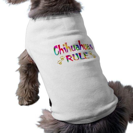 Chihuahua-Regel Ärmelfreies Hunde-Shirt