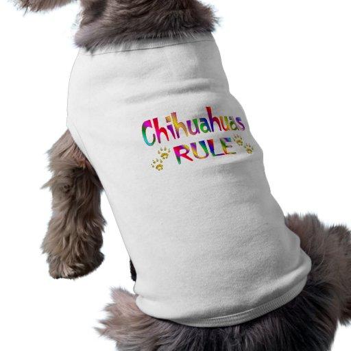 Chihuahua-Regel Hunde T Shirts