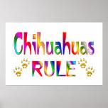 Chihuahua-Regel Plakate