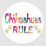 Chihuahua-Regel Runder Aufkleber