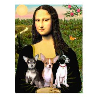 Chihuahua-Trio - Mona Lisa Postkarte