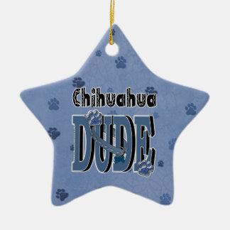 Chihuahua TYP Keramik Stern-Ornament