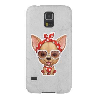 Chihuahua unter dem Mantel einer Retro Schönheit Hülle Fürs Galaxy S5