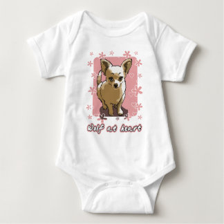 chihuahua wolf at heart baby strampler