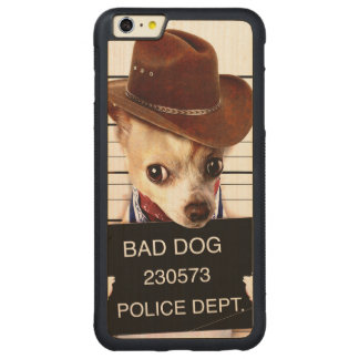 Chihuahuacowboy - Sheriffhund Carved® Maple iPhone 6 Plus Bumper Hülle
