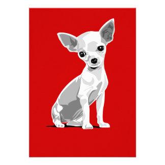 Chihuahuaeinladung Individuelle Ankündigskarten