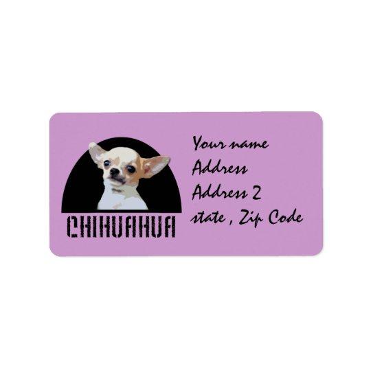 Chihuahuahund Adressaufkleber