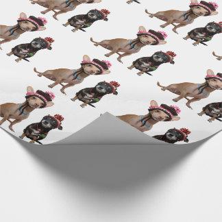 Chihuahuahunde in den Hüten Geschenkpapier
