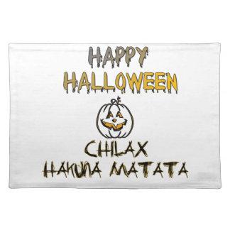 Chilax glückliches Halloween Hakuna Matata Tischset