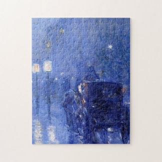 Childe Hassam - regnerischer Mitternacht Puzzle