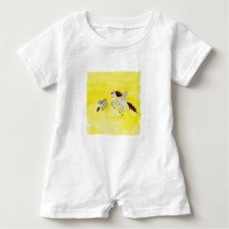 Childish Watercolor, der mit Winged Pferden Baby Strampler