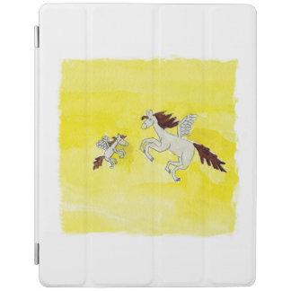Childish Watercolor, der mit Winged Pferden iPad Hülle
