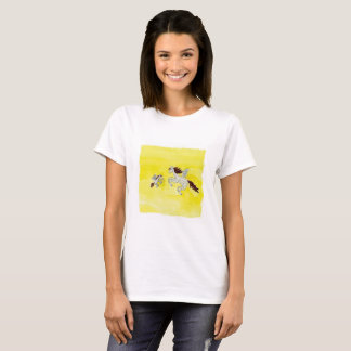 Childish Watercolor, der mit Winged Pferden T-Shirt