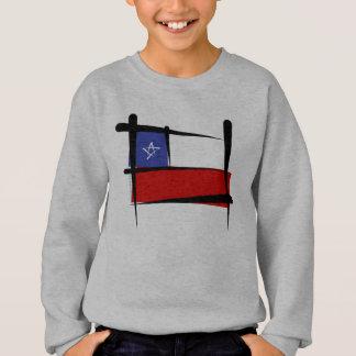 Chile-Bürsten-Flagge Sweatshirt