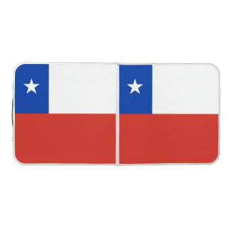 Chile-Flagge Beer Pong Tisch