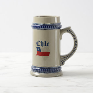 Chile-Flagge Bierglas