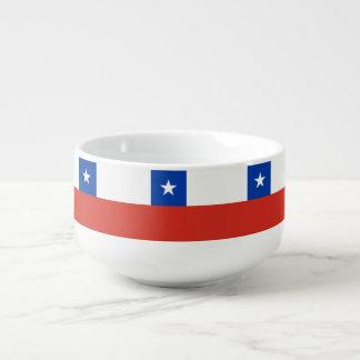 Chile-Flagge Große Suppentasse