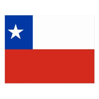 Chile-Flagge Postkarte