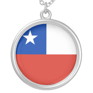 Chile-Flagge Versilberte Kette
