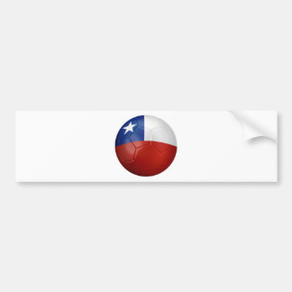 Chile-Flaggen-Ball Autoaufkleber