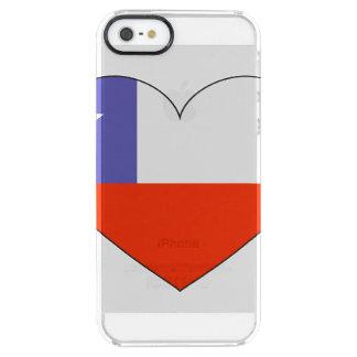 Chile-Flaggen-Herz Durchsichtige iPhone SE/5/5s Hülle