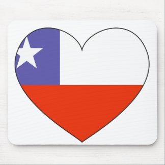 Chile-Flaggen-Herz Mousepad