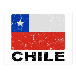 Chile-Vintage Flagge Postkarte