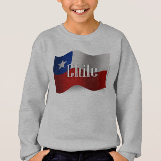 Chile-wellenartig bewegende Flagge Sweatshirt
