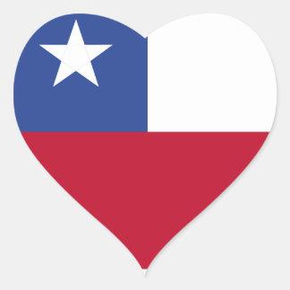 Chileflagge Herz-Aufkleber