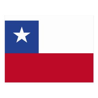 Chileflagge Postkarte
