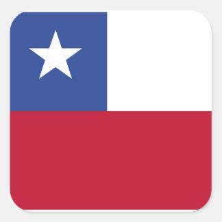 Chileflagge Quadratischer Aufkleber