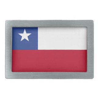 Chileflagge Rechteckige Gürtelschnalle