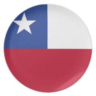 Chileflagge Teller