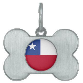 Chileflagge Tiermarke