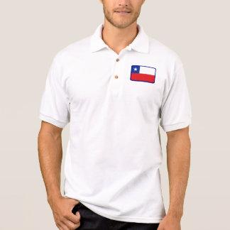 Chileflaggen-Golfpolo Polo Shirt
