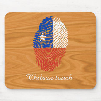 Chilenische Touchfingerabdruckflagge Mousepad