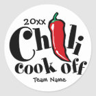 Chili-Koch weg Runder Aufkleber