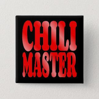 Chili-Meister im Rot Quadratischer Button 5,1 Cm