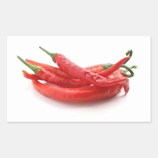 Chili-Paprikaschoten Rechrteckaufkleber