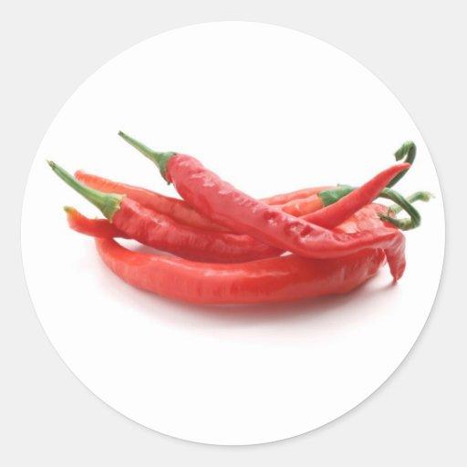 Chili-Paprikaschoten Aufkleber