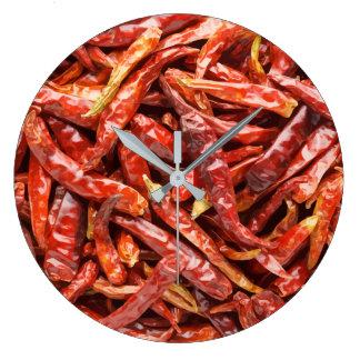 Chili-Paprikaschoten-Küchen-Uhr Große Wanduhr