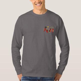 Chili-Pfeffer-Cowboys Besticktes Langarmshirt