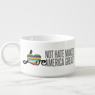 Chili-Schüssel des Liebe-nicht Hass-(SWM) Kleine Suppentasse