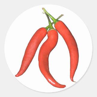Chilies hot runder aufkleber