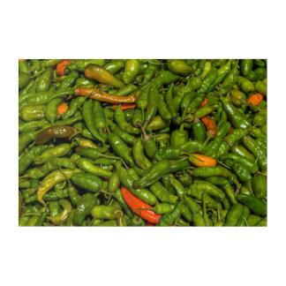 Chilis für Verkauf am Markt Acryldruck