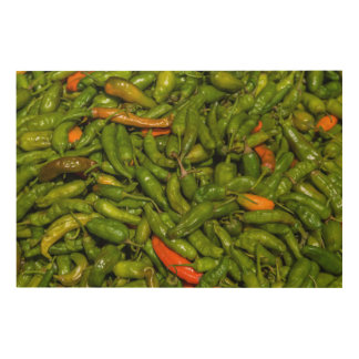 Chilis für Verkauf am Markt Holzleinwand