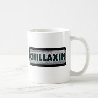 Chillaxin auf Metall Kaffeetasse