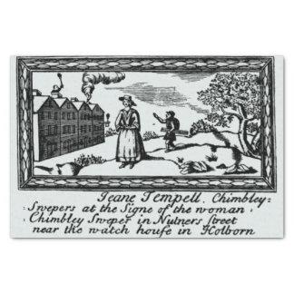Chimeny Kehrmaschine-Geschäfts-Handels-Karte Seidenpapier