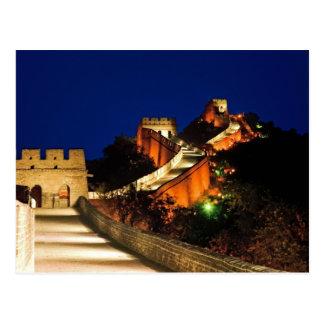 China, Badaling, große Wand, Ansicht von Postkarte